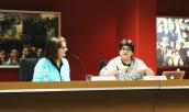 Adriana López González y la Dra. Alfia Leiva.