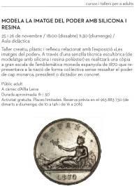 Taller de modelado con silicona y resina poliéster, MuVIM, España. Derechos Reservados, 2017.