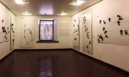 Sala de exposiciones temporales del Palacio de Minería. Mujeres Celestes, Alfia Leiva, 2017. Derechos reservados.